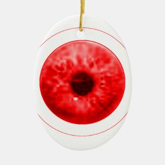 Red Eye Eyeball jGibney The MUSEUM Artist Serie Ceramic Oval Ornament