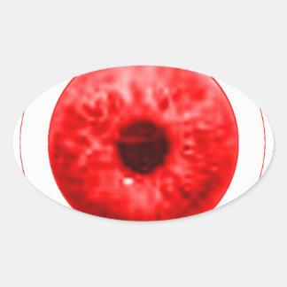 Red Eye Eyeball jGibney The MUSEUM Artist Serie Oval Sticker