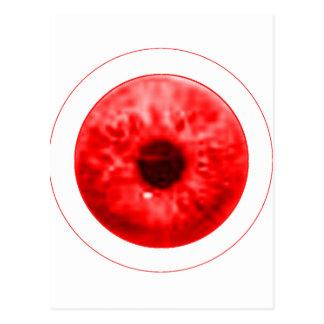 Red Eye Eyeball jGibney The MUSEUM Artist Serie Postcard