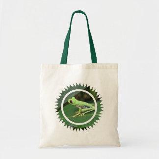 Red Eye Green Tree Frog Tote Bag