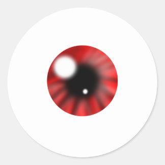Red Eye Orb Round Sticker
