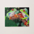 Red Eye Treefrog Pair, Agalychinis callidryas, Jigsaw Puzzle