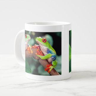Red Eye Treefrog Pair, Agalychinis callidryas, Large Coffee Mug