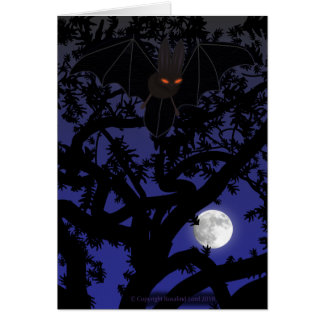 Red-Eyed Bat in Tree Card