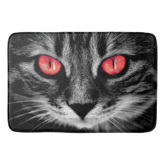 Red eyed cat bath mat