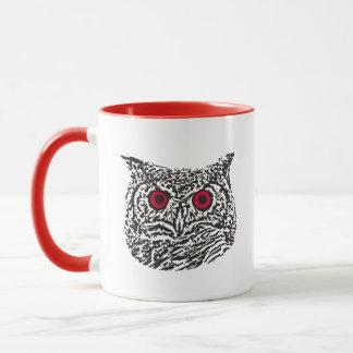 Red-Eyed Graphic Owl Mug