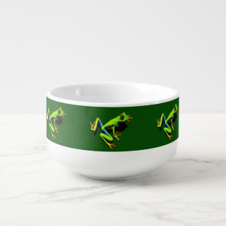 Red-Eyed Green Tree Frog Soup Bowl With Handle