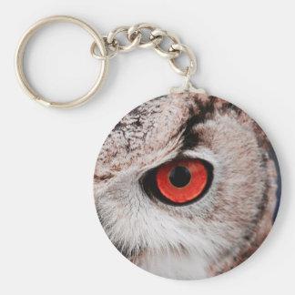Red-Eyed Owl Basic Round Button Keychain