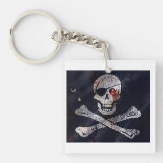 Red Eyed Skeleton Keychain