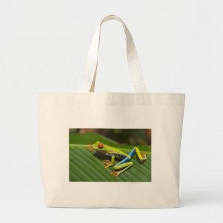 Red Eyed Tree Frog Jumbo Tote Bag