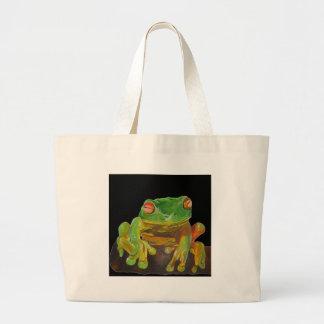Red Eyed Tree Frog. Jumbo Tote Bag