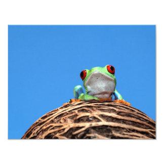 red eyed tree frog custom invites