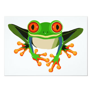 Red Eyed Tree Frog 5x7 Paper Invitation Card