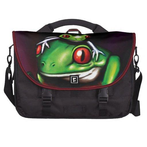 Red Eyed Tree Frog Commuter Bag