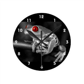 Red Eyed Tree Frog Round Clock