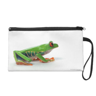 Red eyed tree frog wristlet clutch