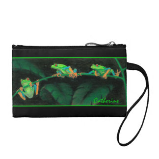 Red-eyed Tree Frogs Bagettes Bag Change Purse
