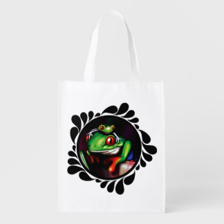 Red Eyed Tree Frogs Enviro Conscious Shopping Bag Grocery Bag