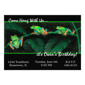 Red-Eyed Tree Frogs Personalized Invites