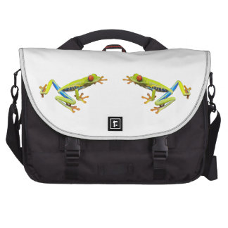 Red eyed tree frogs laptop computer bag