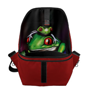 Red Eyed Tree Frogs Messenger Bag