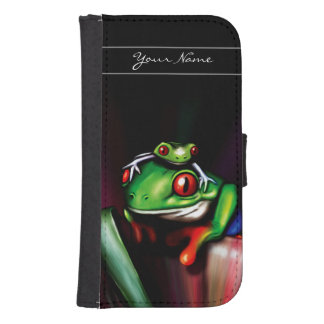 Red Eyed Tree Frogs Samsung S4 Wallet Case