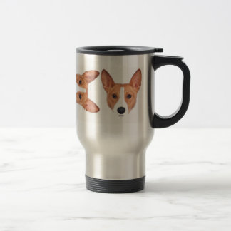 red Face Basenji Travel Mug