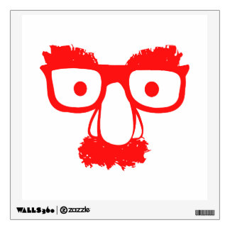 RED FACE WALL DECAL