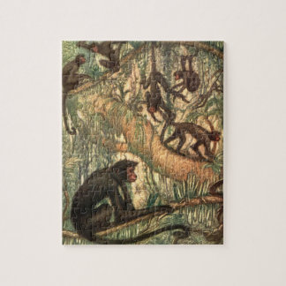 Red Faced Spider Monkeys by Louis Sargent Puzzles