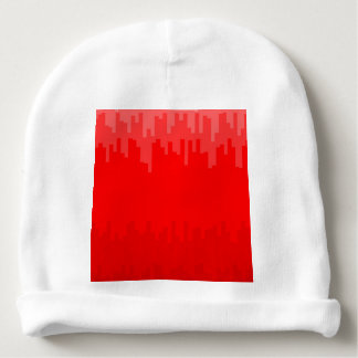 Red Fade Background Baby Beanie