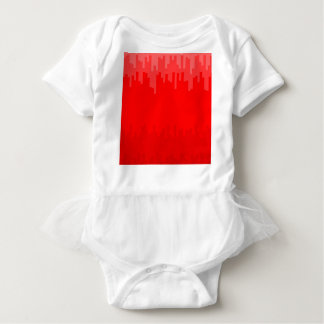 Red Fade Background Baby Bodysuit