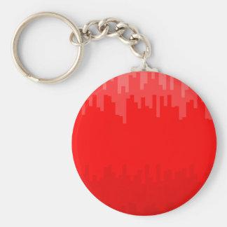 Red Fade Background Basic Round Button Keychain