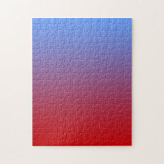 Red fading to Blue Colors, simple design. Puzzle