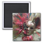 Red Fantasy Angel Square Magnet