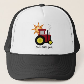 Red Farm Tractor Trucker Hat