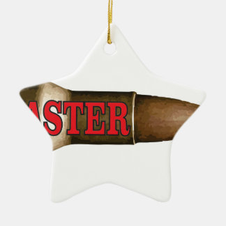 red faster bullet ceramic star ornament