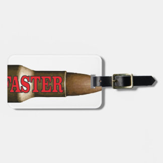 red faster bullet luggage tag