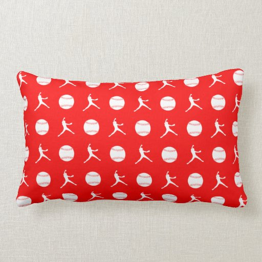 Red Fastpitch Pillow
