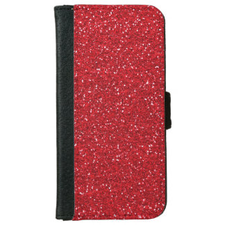 Red Faux Glitter iPhone 6 wallet case