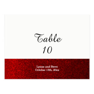 Red Faux Glitter Table Seating Card