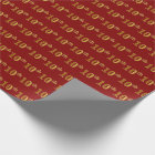 Red, Faux Gold 10th (Tenth) Event Wrapping Paper