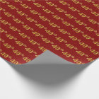 Red, Faux Gold 40th (Fortieth) Event Wrapping Paper
