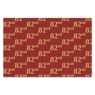 Red, Faux Gold 82nd (Eighty-Second) Event Tissue Paper