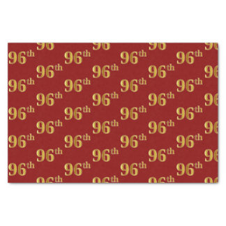 Red, Faux Gold 96th (Ninety-Sixth) Event Tissue Paper