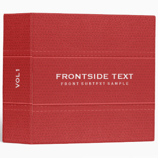 Red Faux Leather Vintage Look Look Vinyl Binders