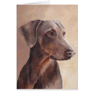 Red Fawn Doberman Dog Art Greeting Card