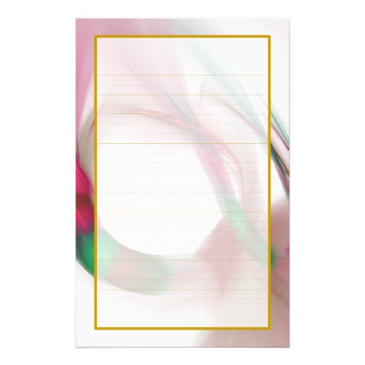 Red Feather Rings Fine Lined Stationery