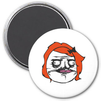 Red Female Me Gusta Comic Rage Face Meme Refrigerator Magnet