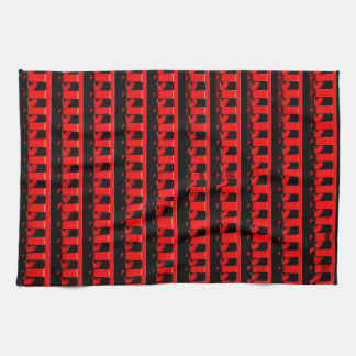 Red Fence Kitchen Towel