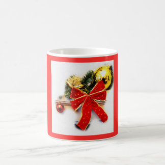 Red festive bow coffee mug